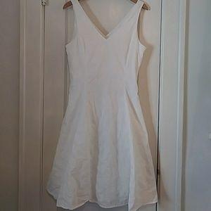 Jones New York White Cotton Eyelet Midi Dress 10